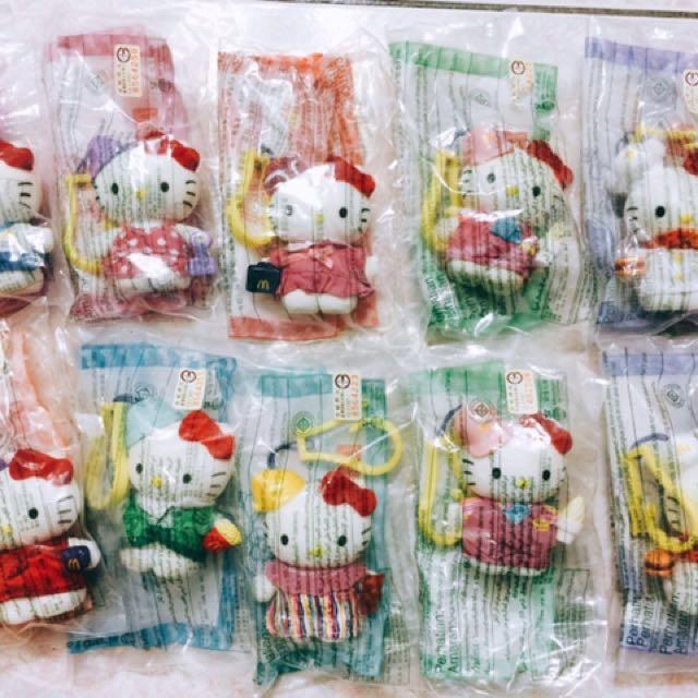 麥當勞Hello kitty 小玩偶 十隻 (不零賣)