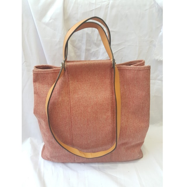 Herm Handbag Canvas Pink