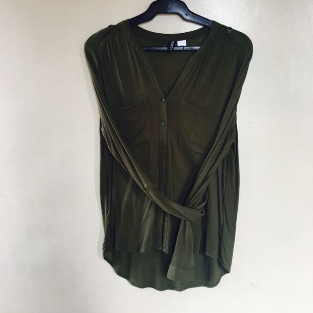 H&M green top