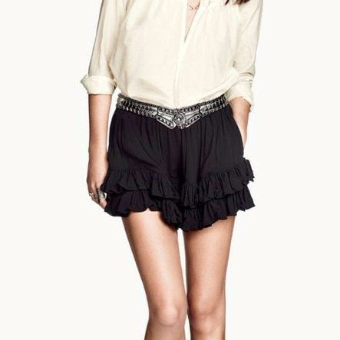 H&M Spring 2014 Frill Shorts Size34 (XS)