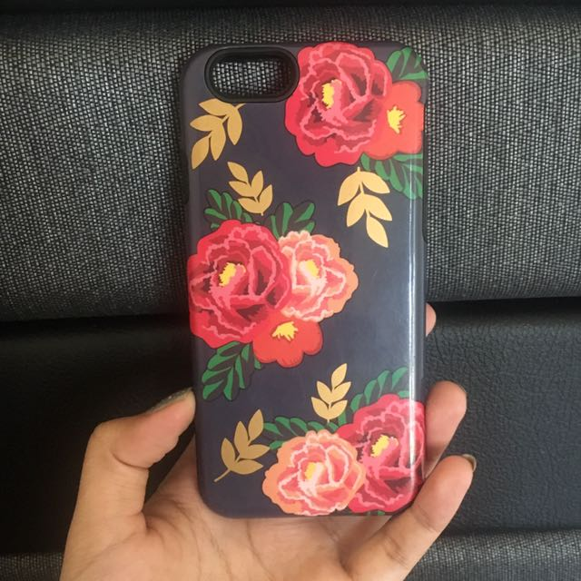 Iphone 6/6S case blu flowery
