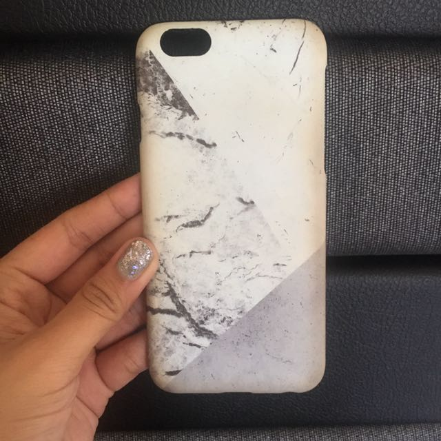 Iphone 6/6S case white marbles