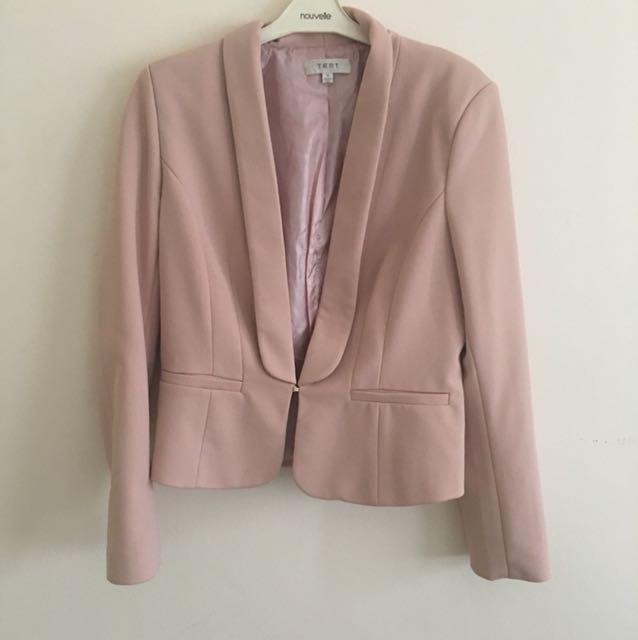 Jacket in blush