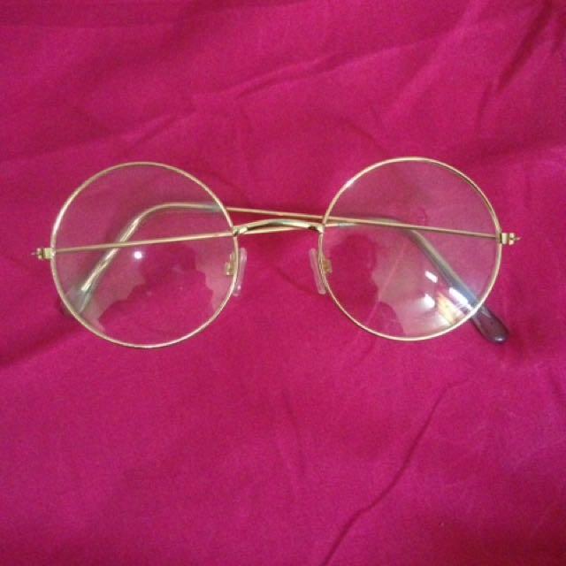 Kacamata Gold Bulat