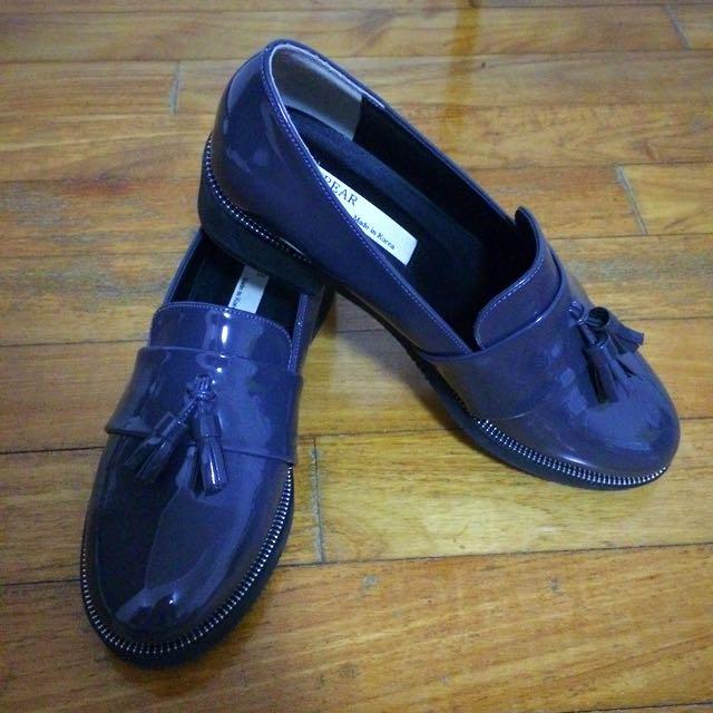 Korean zipper style tassel loafers