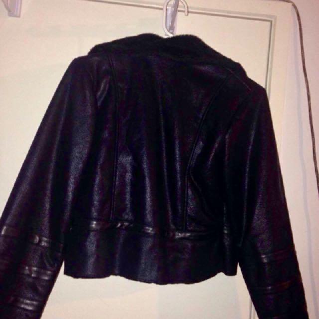 Ladies warm black jacket