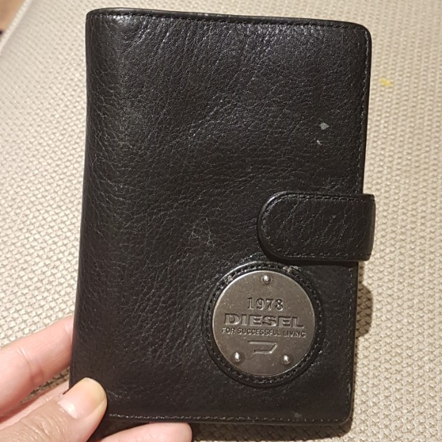 leather diesel wallet