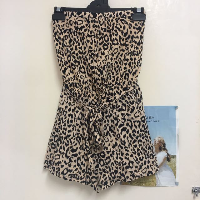 Leopard Print Playsuit