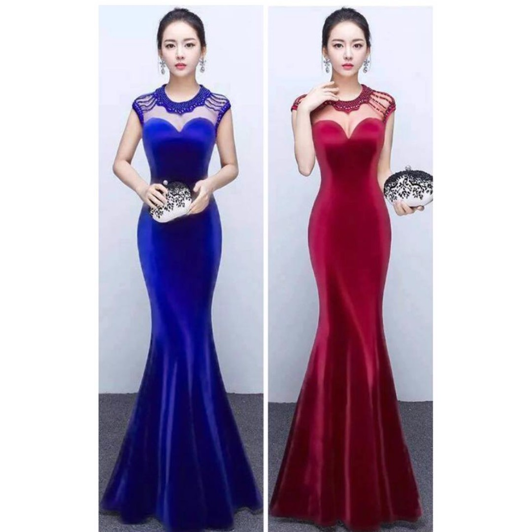 LONG GOWN, Women\'s Fashion, Clothes on Carousell