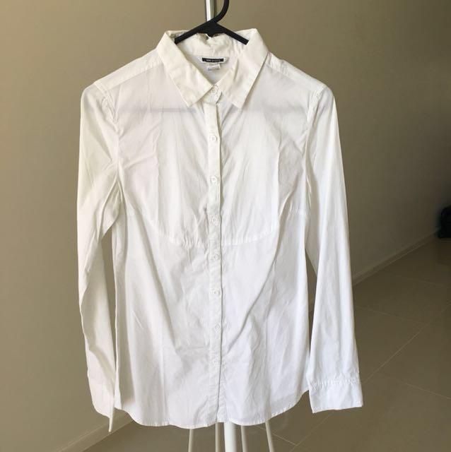 Mango Basics White Shirt Size S