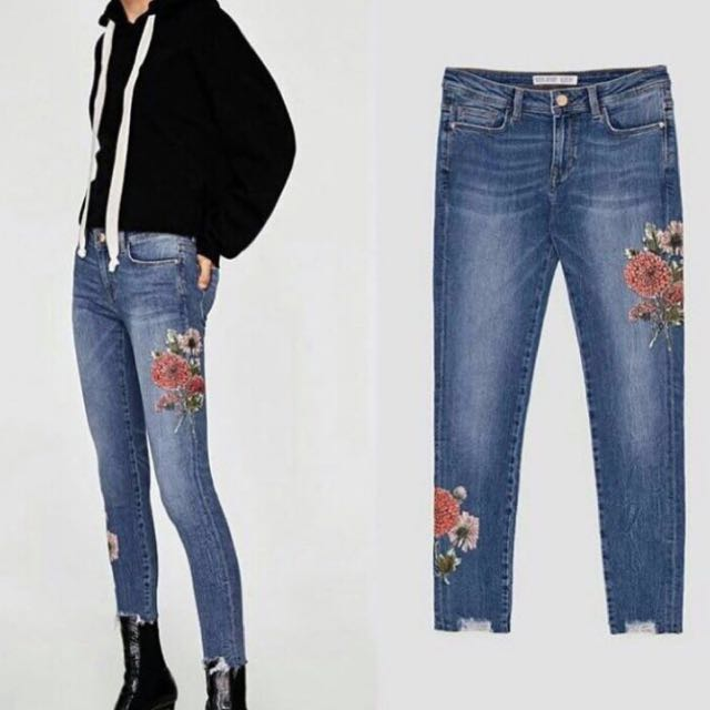 Mark Down! Zara Jeans with flower print