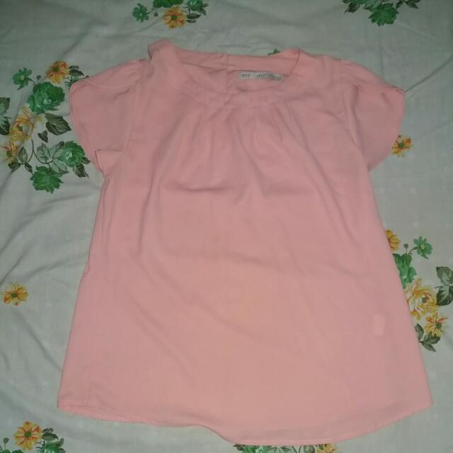 Minimal Pink Blouse