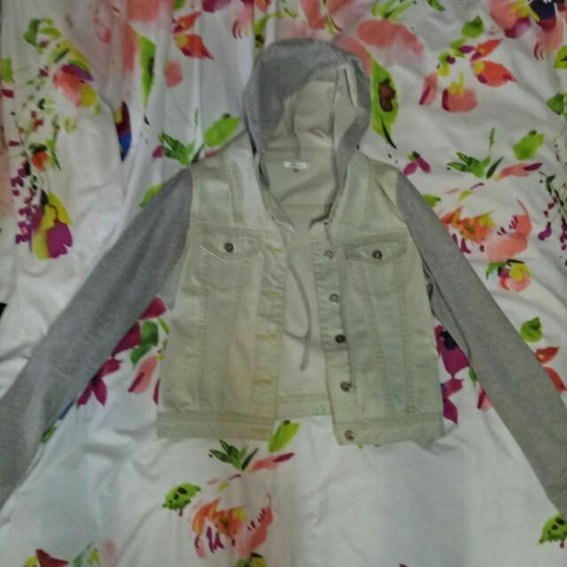 Mock Two Piece Denim Jacket