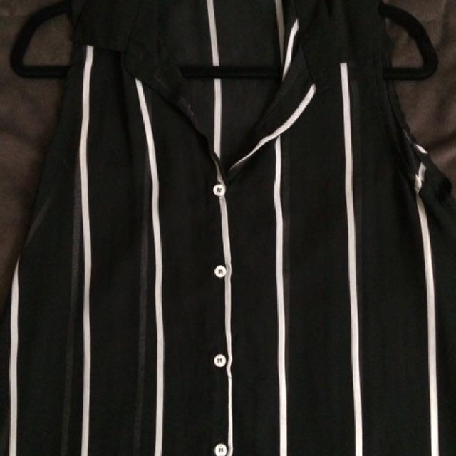 MODA see through striped top