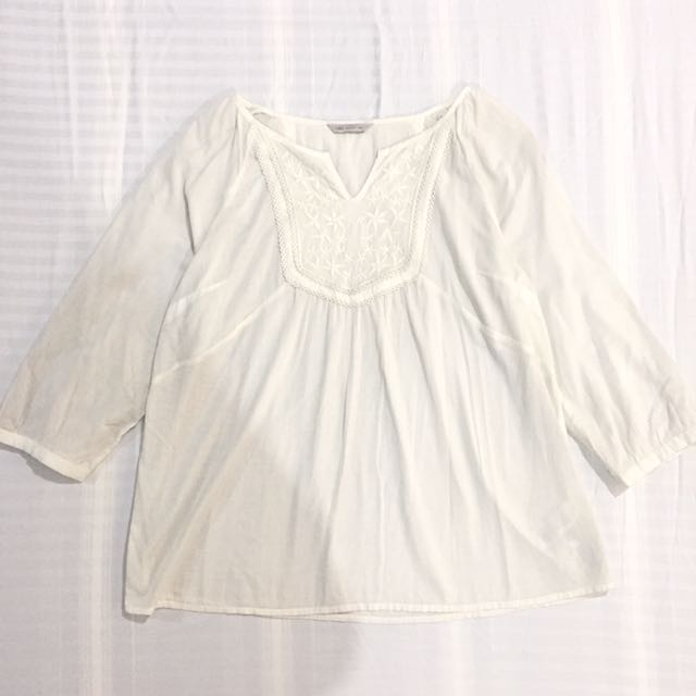 M&S Off-white Blouse