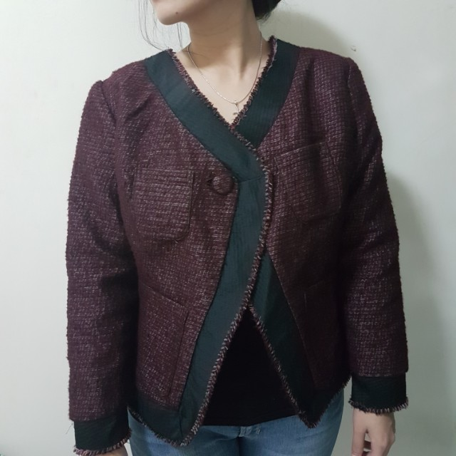 NEW customized tweed blazer