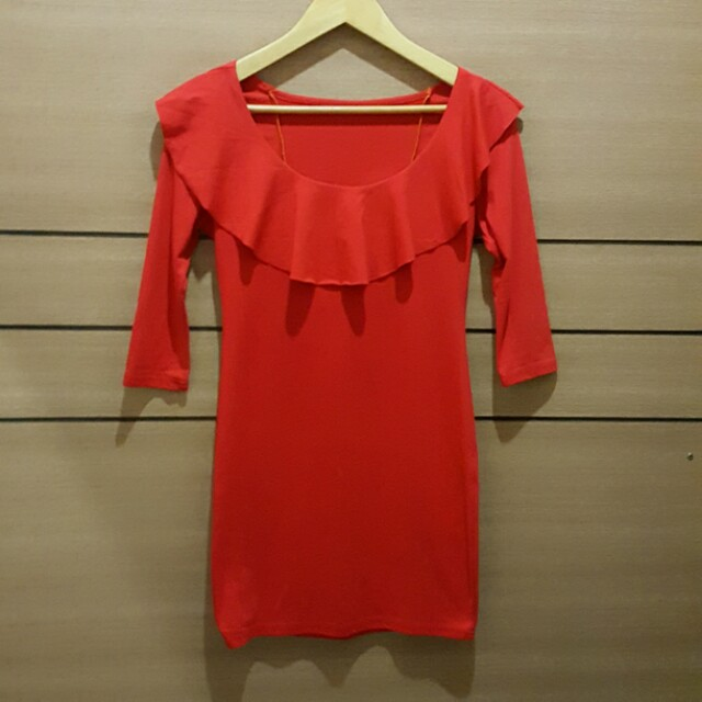 [NEW] Red Stretchable Lycra Dress