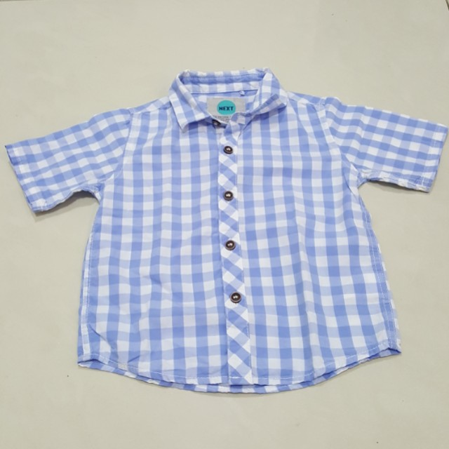 Next blue checkers shirt