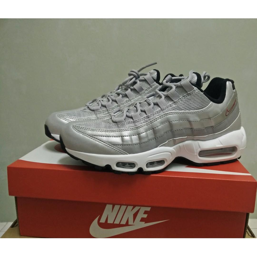 the latest dd827 8d488 ... canada nike air max 95 silver bullet premium qs mens fashion footwear  on ed0fa e2f8a