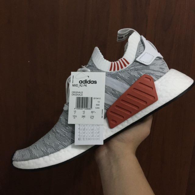 Nmd R2 Primeknit Grey Us 10 5 Men S Fashion Footwear On Carousell