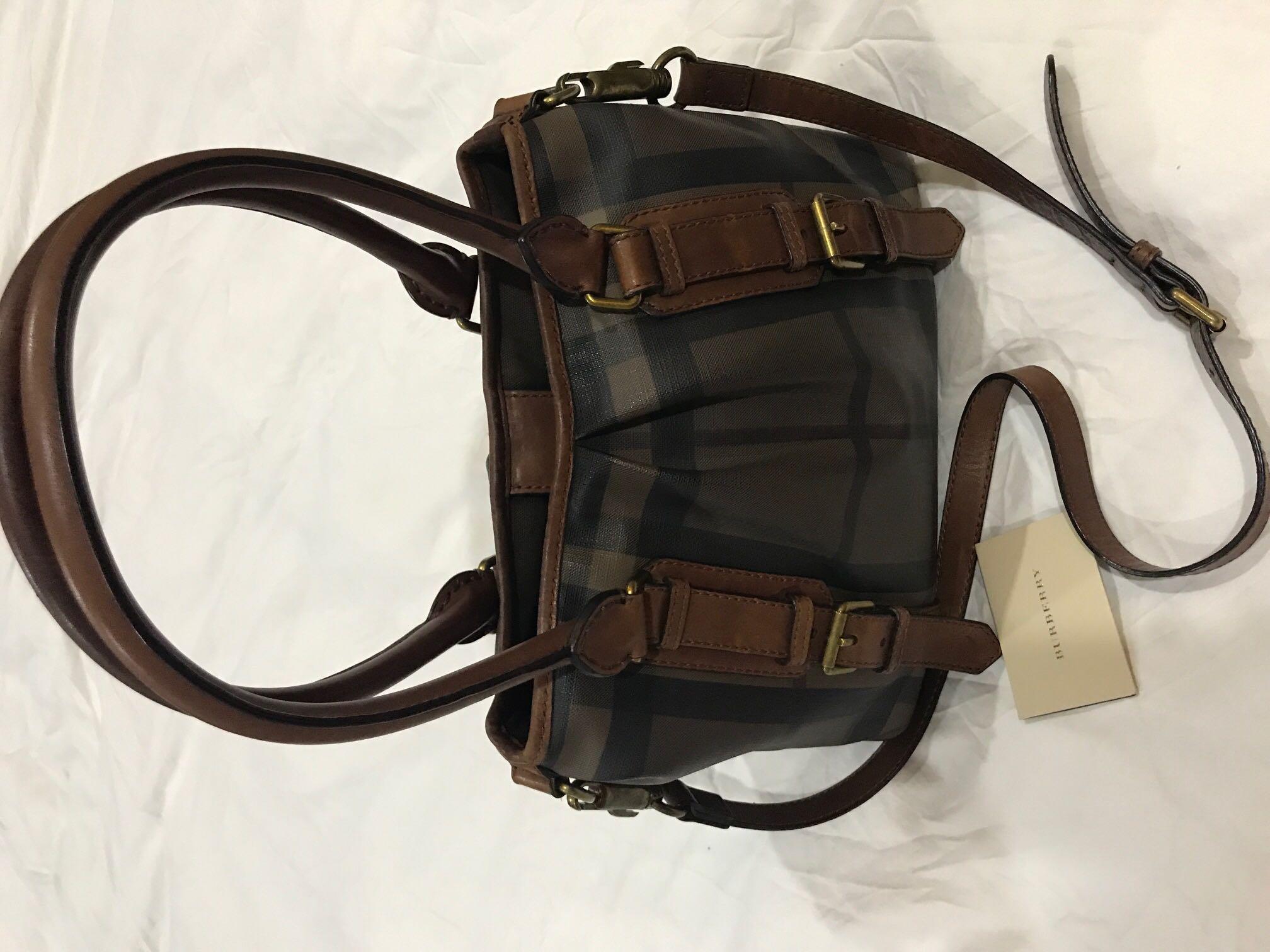d4d21d58f6a4 Original Burberry smoked check northfield tote bag