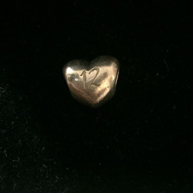 Pandora Heart 12 Charm