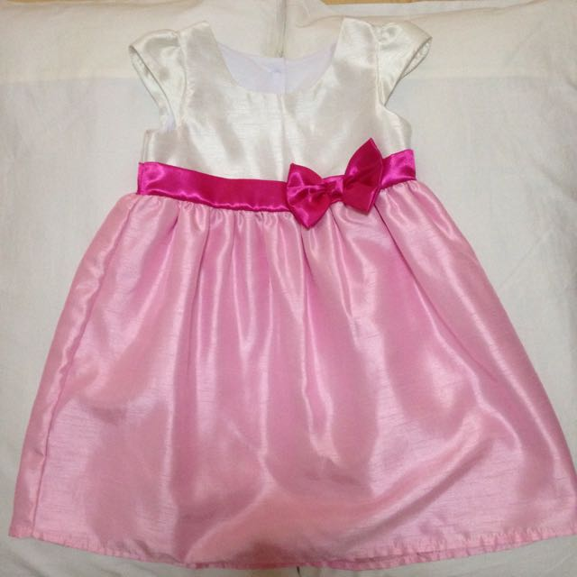White & Pink Party Dress