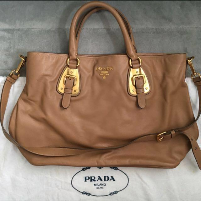 Prada leather women cross body handbag
