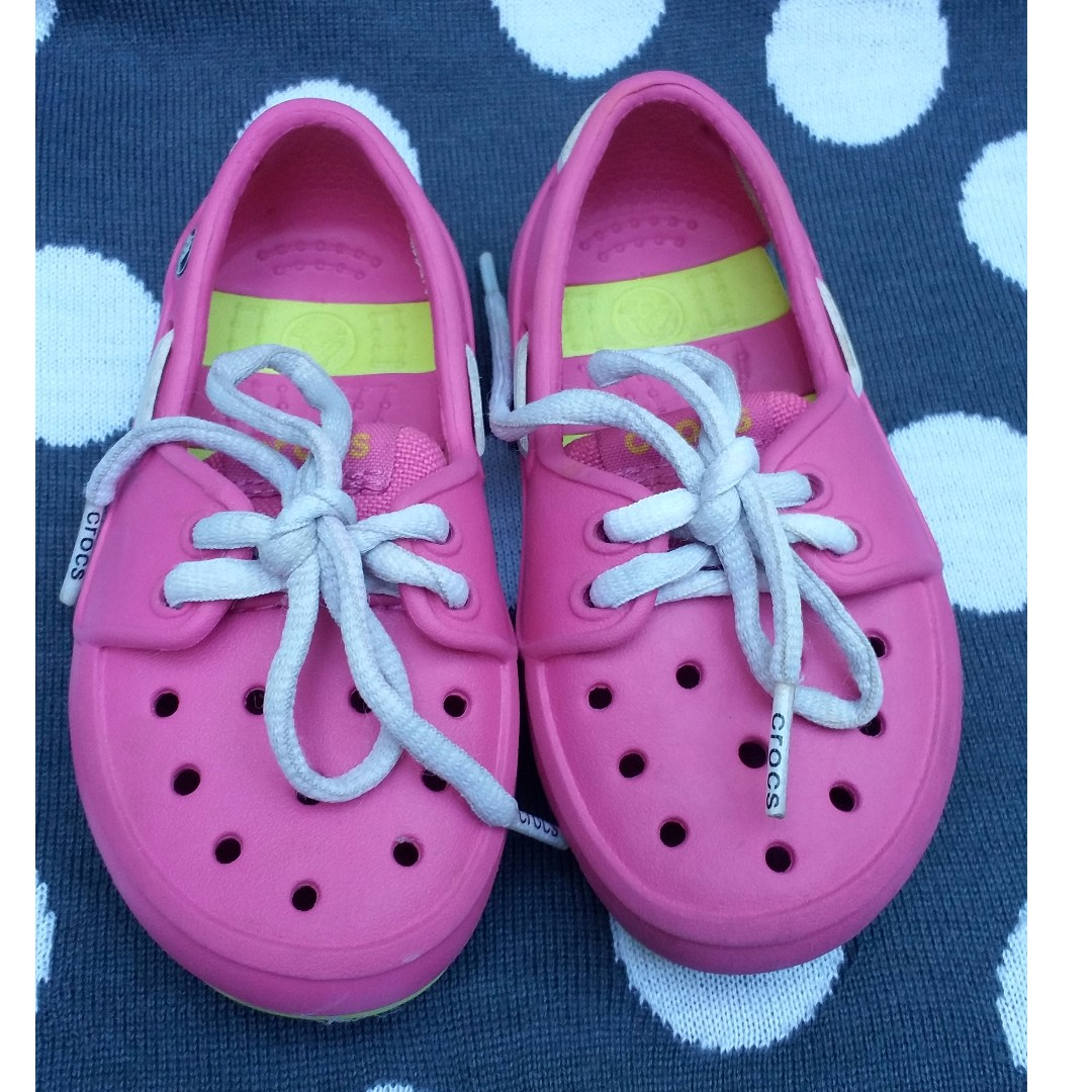 Preloved Crocs Boat Shoes for Girls