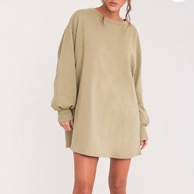 PRICE DROP - PLT OVERSIZED SAGE GREEN SWEATER DRESS