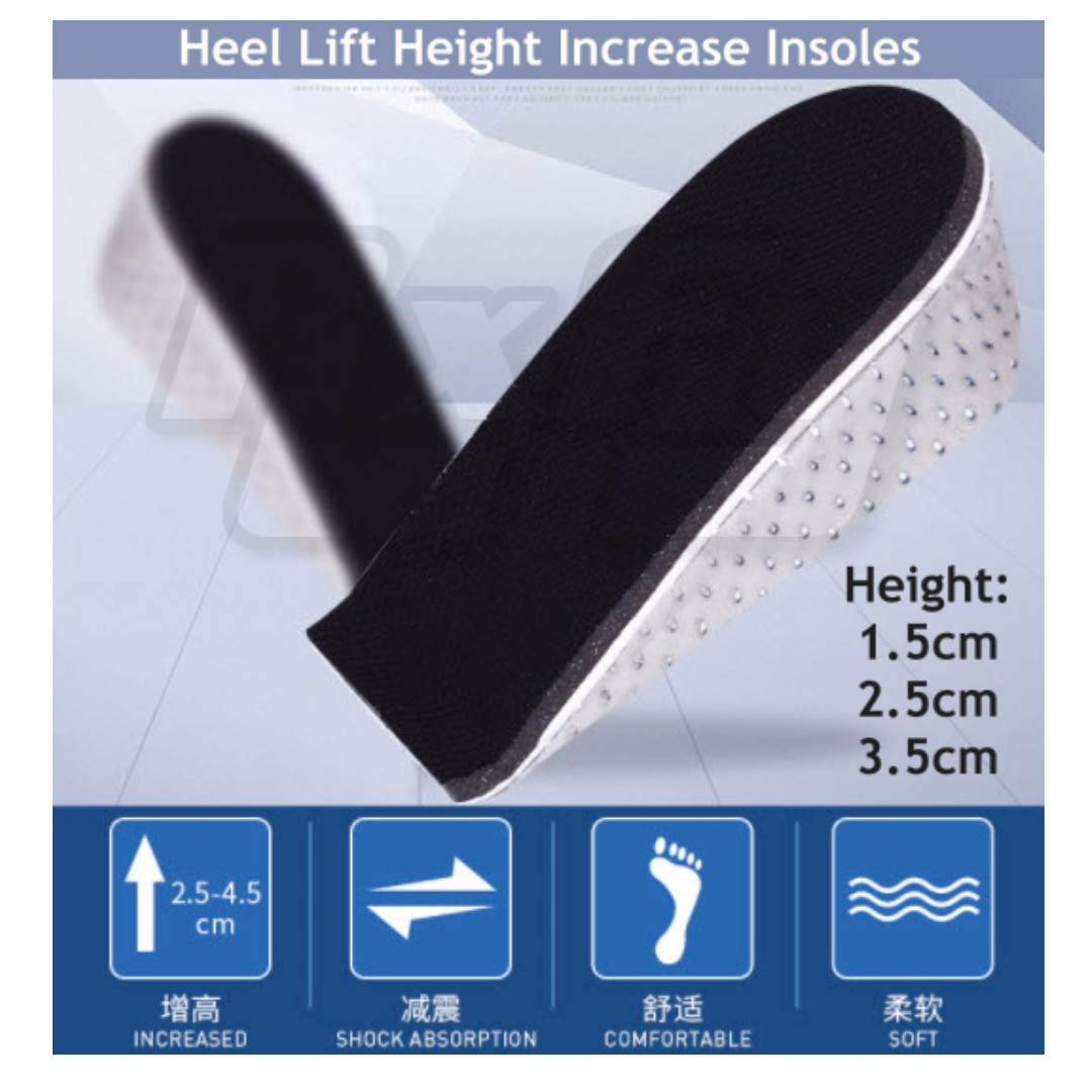 *Quality* Half Type EVA Foam Height Increase Elevator shoe Inserts Insoles Heel Lifts Pads 1.5cm 2.5cm 3.5cm Insole