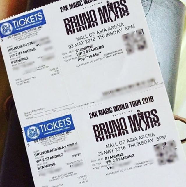 Rush Sale! Bruno Mars 24k Magic World Tour VIP 2