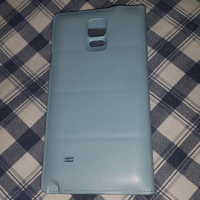 Samsung Note 4 S View Cover Mint green