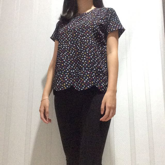 Scallop blouse