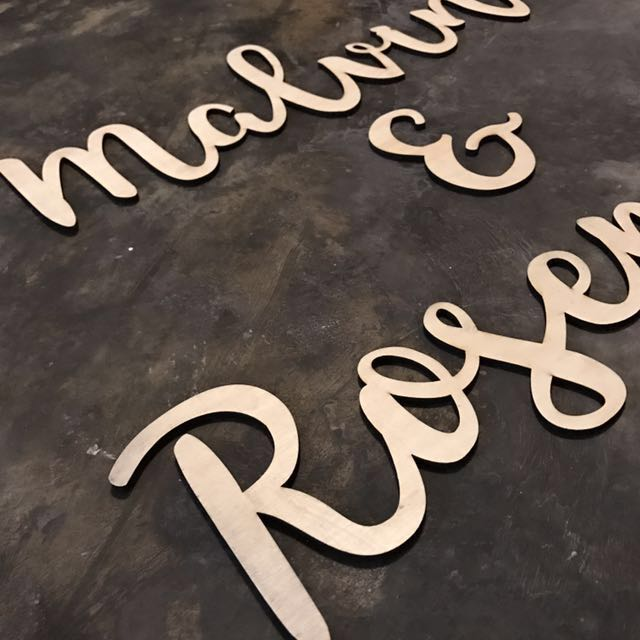 Sellabrations] Customised Laser Cut Wood Caligraphy Names