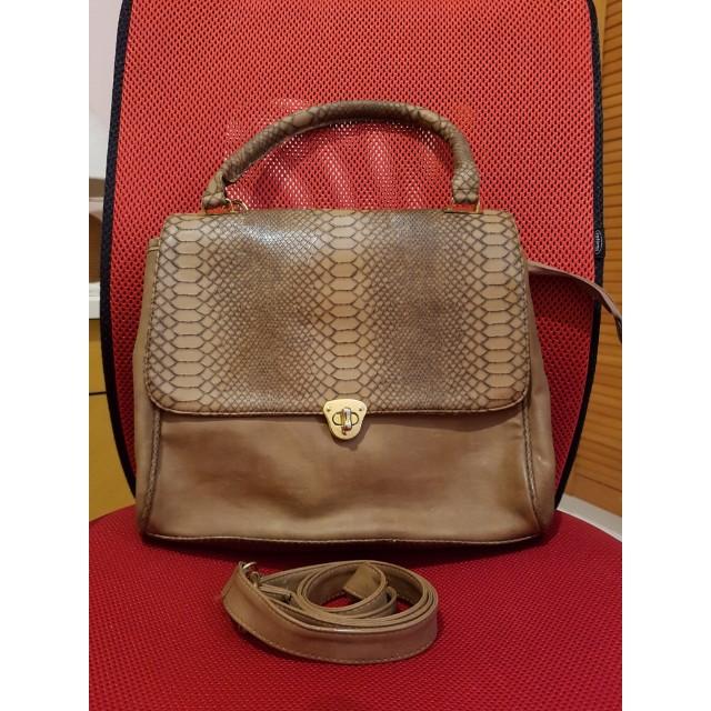 shoulder brown bag with strap
