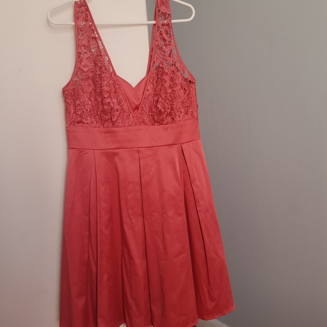 Size 12 satin and lace Review dress - new