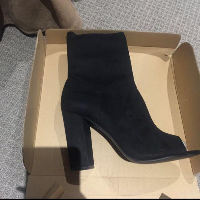 Size 7 Peeptoe boots