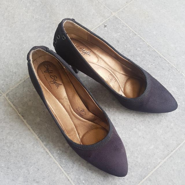 soft style hush puppies black suede