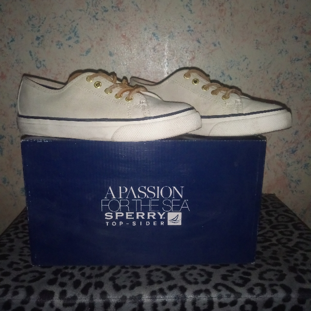 Sperry Top sider in Seacoast Ivory color for women