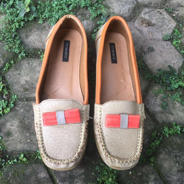 St Moritz Brown Orange Wedges 38