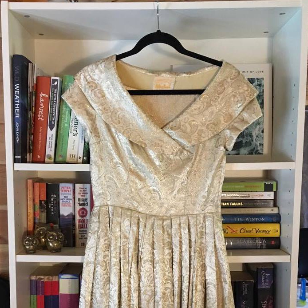 Stunning Gold Vintage/50s/60s Formal Dress