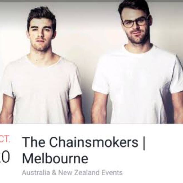 The Chainsmokers Melbourne 20 Oct