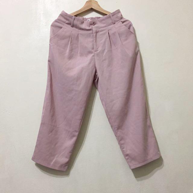 Tiff購入 石英粉高腰西裝寬褲