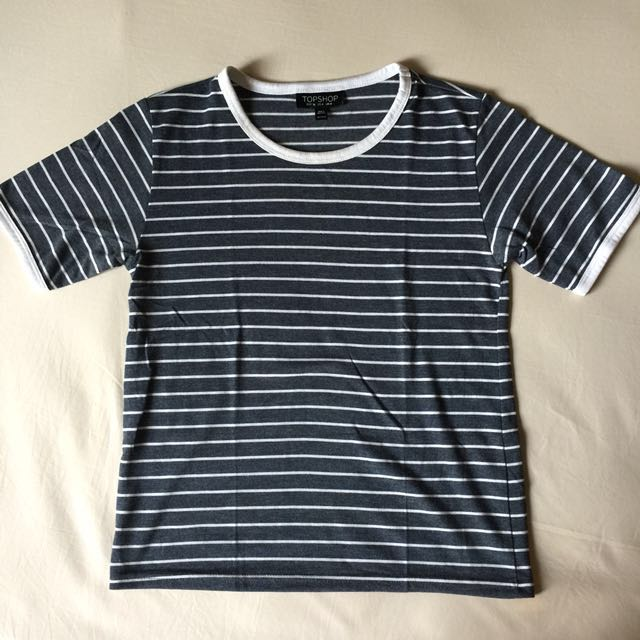TOPSHOP Striped Ringer Tee