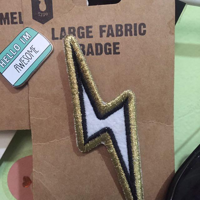 Typo Fabric Badge