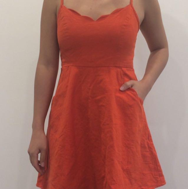 UO linen dress
