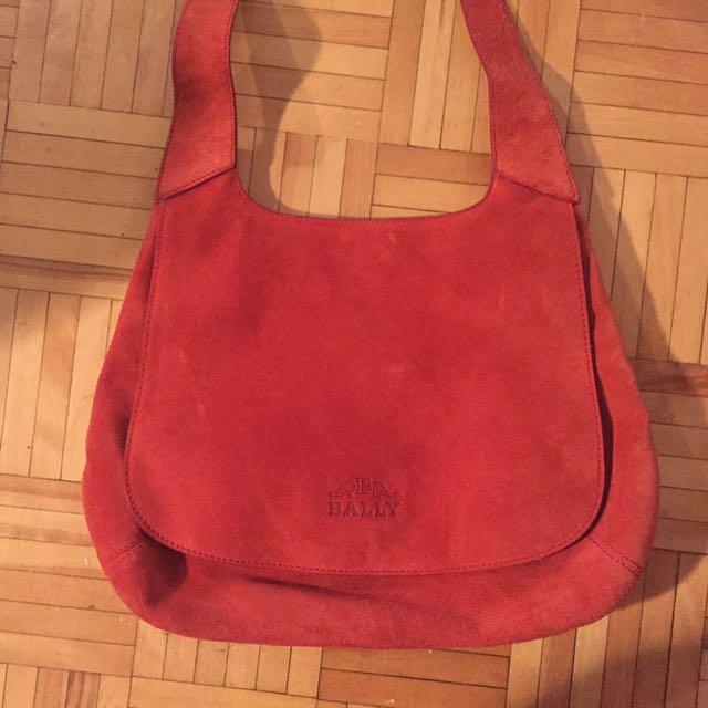 Vintage Bally Real Suede Leather Purse