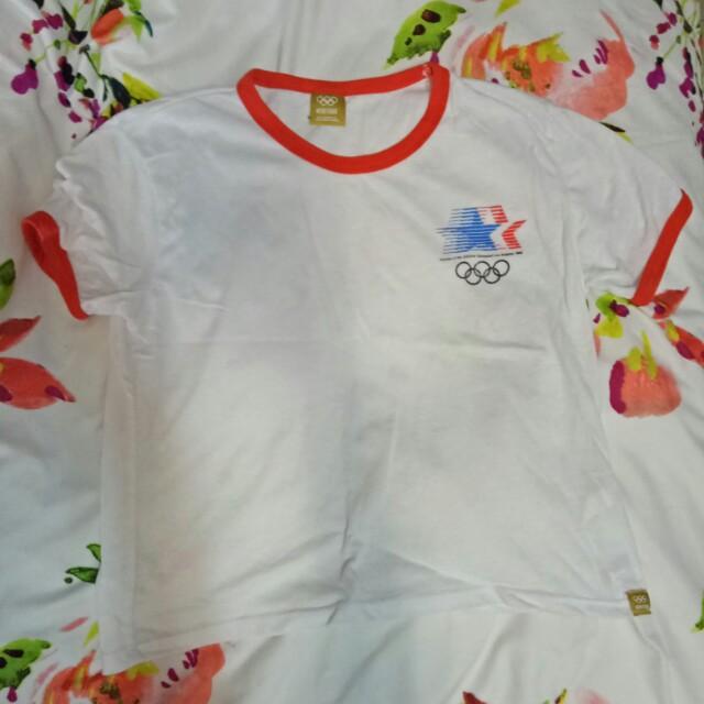 Vintage styled Olympics Crop Tee