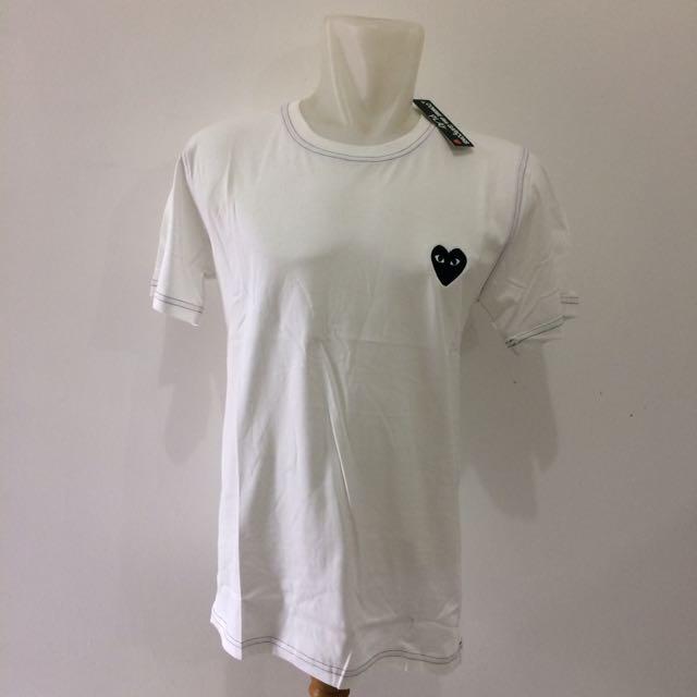 White CDG T-Shirts